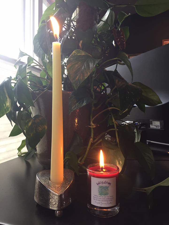 How Lighting a Candle Can Help YOU - Blog - Elise Bowerman Yoga - Lighting_a_Candle